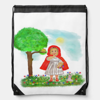 little red riding hood drawstring backpack