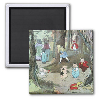 Little Red Riding Hood: End Pages 2 Inch Square Magnet