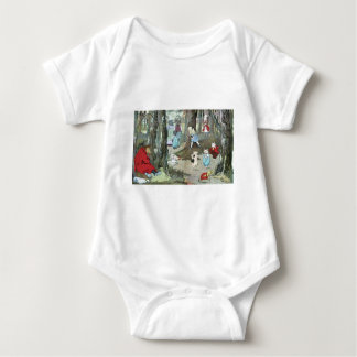 Little Red Riding Hood: End Pages Baby Bodysuit
