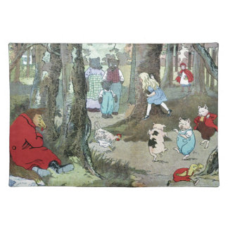Little Red Riding Hood: End Pages Cloth Placemat