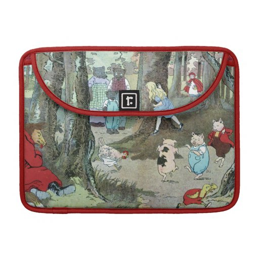 Little Red Riding Hood: End Pages Sleeve For MacBook Pro