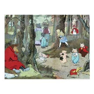 Little Red Riding Hood: End Pages Postcard
