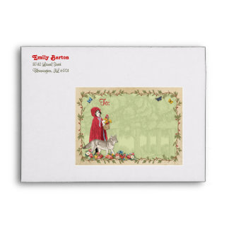 Little Red Riding Hood Envelope for Invitation