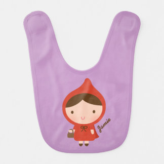 Little Red Riding Hood Fairytale Baby Girl Bibs
