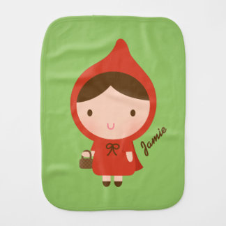 Little Red Riding Hood Fairytale Baby Girl Baby Burp Cloth