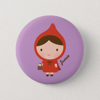 Little Red Riding Hood Fairytale for Girls Button