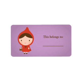 Little Red Riding Hood Fairytale for Girls Label