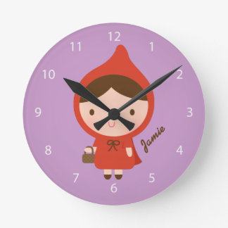 Little Red Riding Hood Fairytale Girls Bedroom Round Clock