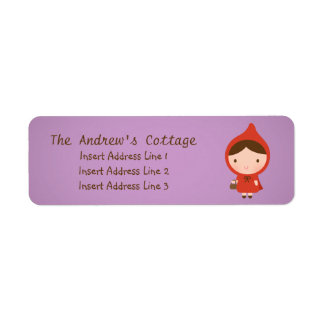 Little Red Riding Hood Fairytale Label