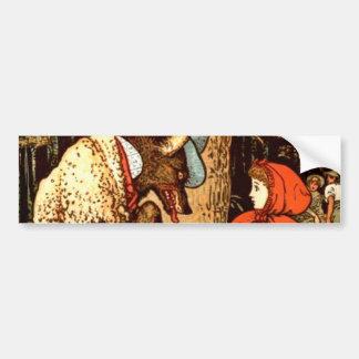 Little Red Riding Hood Fantasy Fairy Tale Car Bumper Sticker