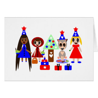 Little Red Riding Hood Fourth of July Card