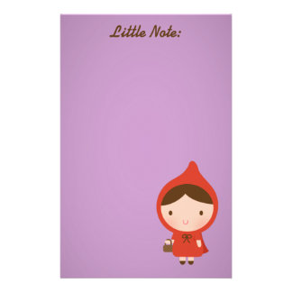 Little Red Riding Hood Girl Stationery