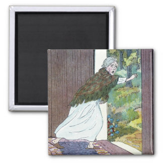 Little Red Riding Hood: Grandma Ran Out 2 Inch Square Magnet