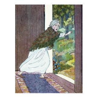 Little Red Riding Hood: Grandma Ran Out Postcard
