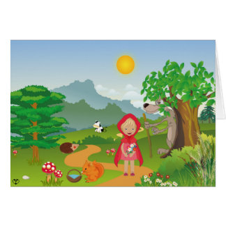 Little Red Riding Hood, Greeting Card