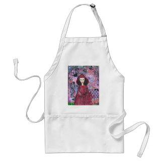 Little Red Riding Hood in the Woods 001.jpg Adult Apron
