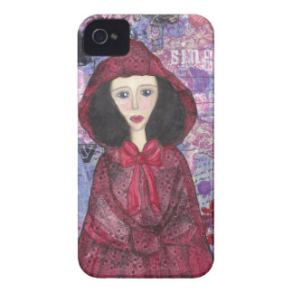Little Red Riding Hood in the Woods 001.jpg iPhone 4 Cover