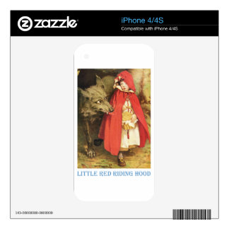 Little Red Riding Hood iPhone 4S Skins