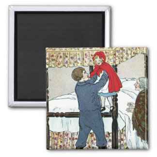 Little Red Riding Hood: Little Red Safe 2 Inch Square Magnet