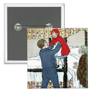 Little Red Riding Hood: Little Red Safe Pinback Button