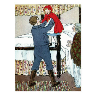 Little Red Riding Hood: Little Red Safe Postcard