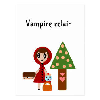Little Red Riding Hood Meets the Vampire Eclair Postcard