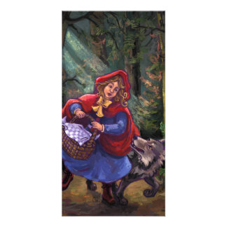 Little Red Riding Hood Personalized Photo Card