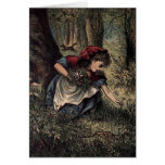 Little Red Riding Hood Picking Flowers Cards