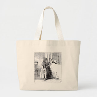 little-red-riding-hood-pictures-2 large tote bag