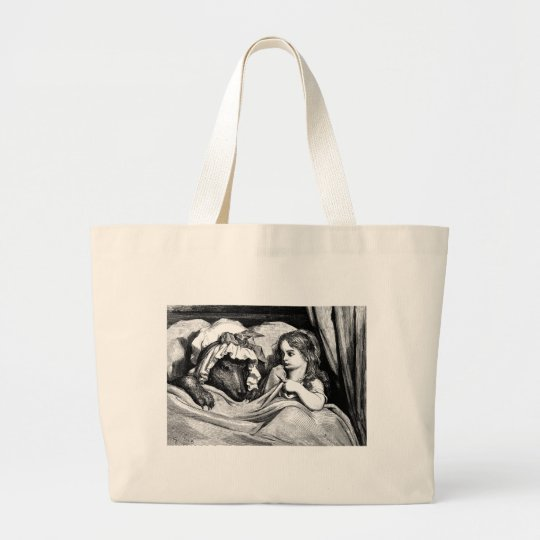 little-red-riding-hood-pictures-7 large tote bag