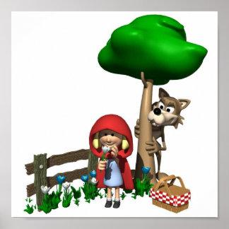 Little Red Riding Hood  Portfolio 15x15 Poster