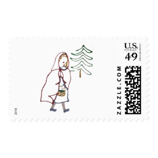 Little Red Riding Hood Stamp