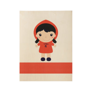 Little red riding Hood / RED Wood Poster
