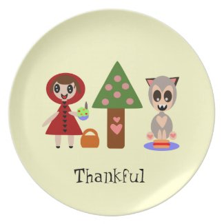 Little Red Riding Hood's Magic Picnic Melamine Plate