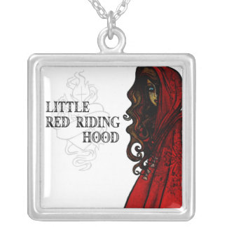 Little Red Riding Hood Square Pendant Necklace