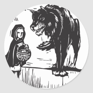Little Red Riding Hood Round Stickers