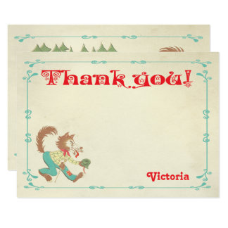 Little Red Riding Hood Thank You Note Card