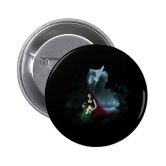 Little Red Riding Hood & the Magic Mushrooms Pinback Buttons