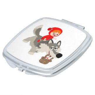 Little Red Riding Hood & The Wolf Compact Mirror