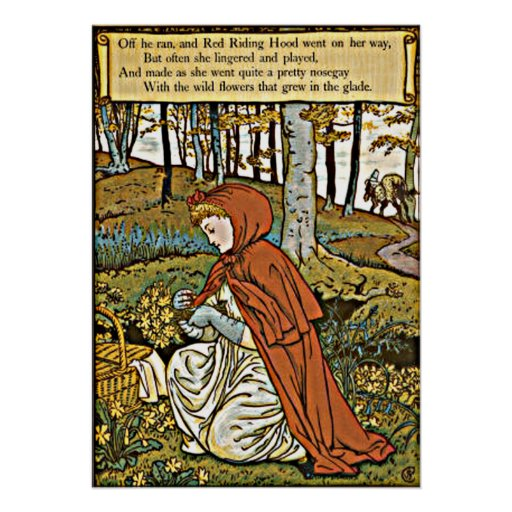 Little Red Riding Hood Vintage print