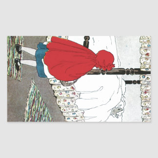 Little Red Riding Hood: What Grat Ears You Have! Rectangular Sticker