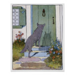 Little Red Riding Hood: Wolf at the Door Print