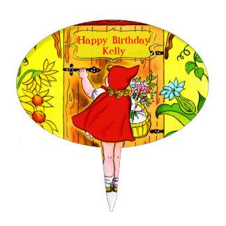 Little Red Riding Hoods Birthday Visit Cake Topper