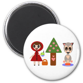 Little Red Riding Hoods Picnic Magnet