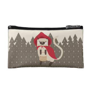 Little Red Riding Kitty Cosmetic Bags