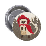 Little Red Riding Kitty Pinback Buttons