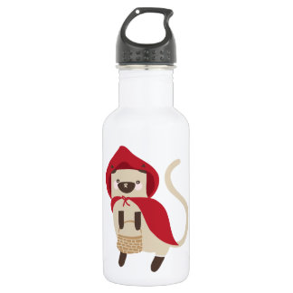 Little Red Riding Kitty Stainless Steel Water Bottle