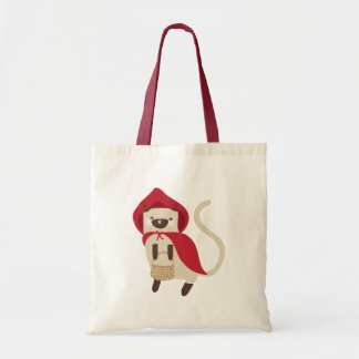 Little Red Riding Kitty Tote Bag