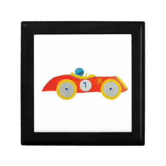 Little Red Roadster Racing Car Child 1st Birthday Keepsake Box