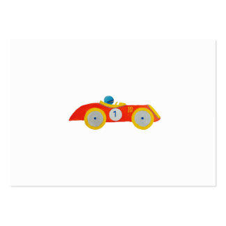 Little Red Roadster Racing Car Child 1st Birthday Large Business Card